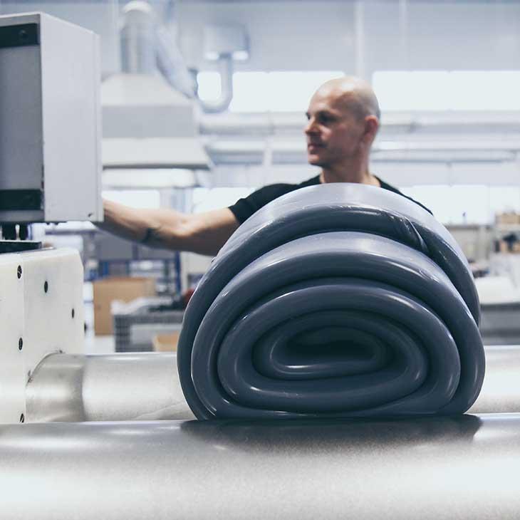 produkcja mieszanki silikonowej